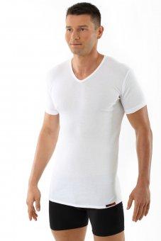 """Maglia / maglietta intima con scollo a V, maniche corte """"Berlin"""" bianco"""