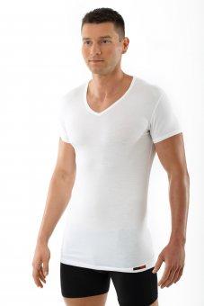 """Maglietta intima da uomo, scollo a V con mezza manica  """"Stuttgart light"""" bianca S"""