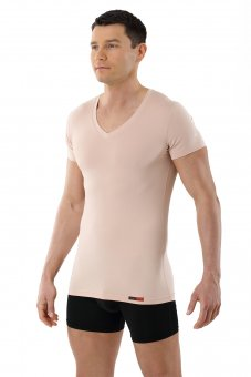 Maglietta Intima Tessuto Tecnico Coolmax Color Carne Invisibile