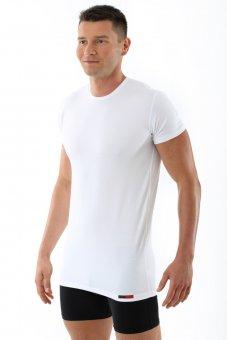 """T-Shirt / maglietta intima di cotone elasticizzato, mezza manica """"Hamburg"""" bianca"""