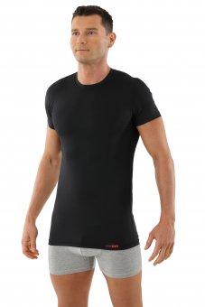 Maglietta Intima Tessuto Tecnico Coolmax scollo rotondo nero