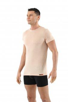 Maglietta intima invisibile lana merino maniche corte scollo rotondo