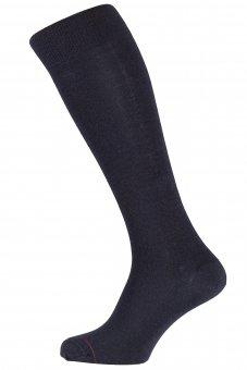 Calzettoni business neri invernali Thermocool con lana merino e coolmax
