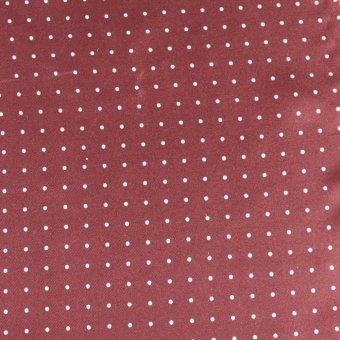 scialle da uomo pura seta, bordeaux con puntini bianchi, disegno 200287