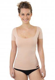 Maglietta intima invisibile da donna maniche corte cotone