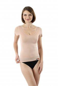 Maglietta intima invisibile da donna maniche corte micromodal