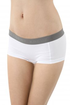 Culotte a pantaloncino cotone elasticizzato bianco