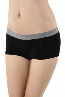 Culotte a pantaloncino cotone elasticizzato nero