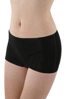Set di 3 - Culotte a pantaloncino senza cuciture a taglio vivo cotone elasticizzato color nero