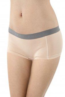 Culotte a pantaloncino cotone elasticizzato color carne beige
