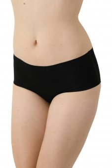 Set di 3 - Culotte slip a vita alta senza cuciture a taglio vivo cotone elasticizzato color nero