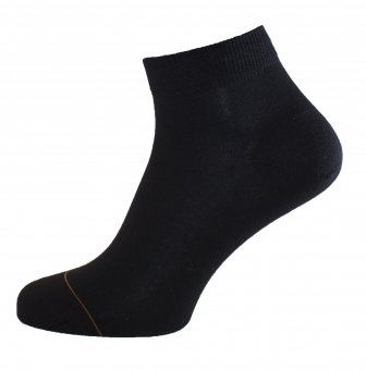 Calzini corti in cotone con interno cashmere nero