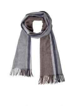 Sciarpa lana cashmere da donna e uomo con righe 170 x 35 cm