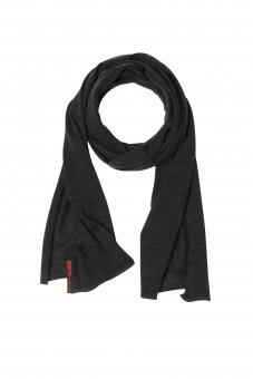 Sciarpa lana merino con seta da donna e uomo grigio antracite 40 x 200 cm