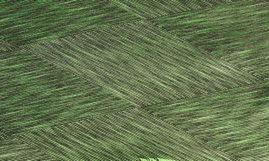 scialle pura seta verde, nero - fantasia, disegno 200028
