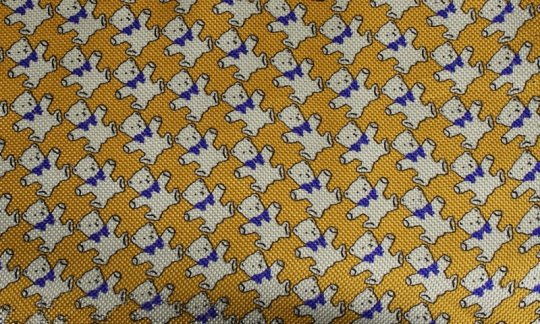 cravatta giallo, azzurro, bianco - motivi, disegno 200045