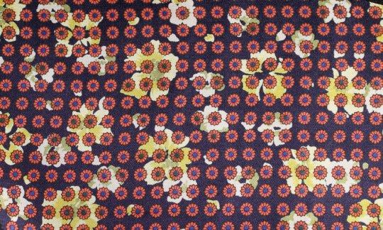 cravatta rosso, giallo, blu marino - fiori, disegno 200057
