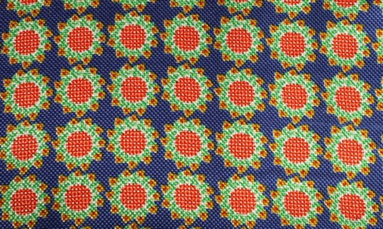 cravatta sciarpa rosso, giallo, verde, azzurro - fiori, disegno 200062
