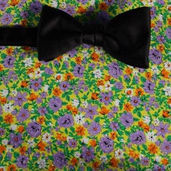 farfalla-papillon giallo, verde, bianco, arancione, ametista, grigio - fiori, disegno 200063