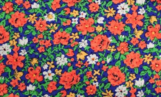 fascia da smoking rosso, giallo, verde, azzurro, bianco - fiori, disegno 200065