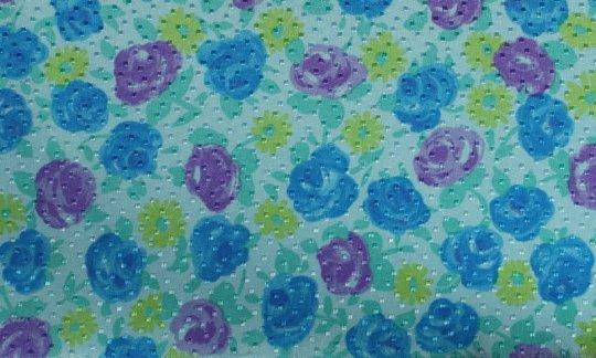 fazzoletto da taschino giallo, verde, azzurro, ametista - fiori, disegno 200069
