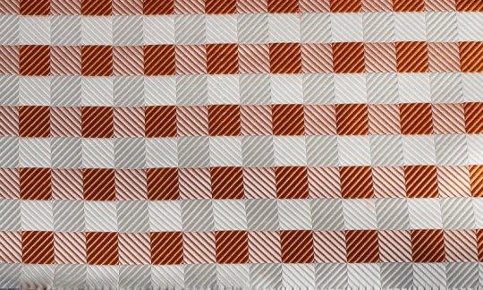 fascia da smoking argento, bianco, arancione, terracotta - quadretti, disegno 200077