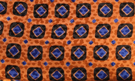 cravatta azzurro, nero, arancione - quadretti, disegno 200083