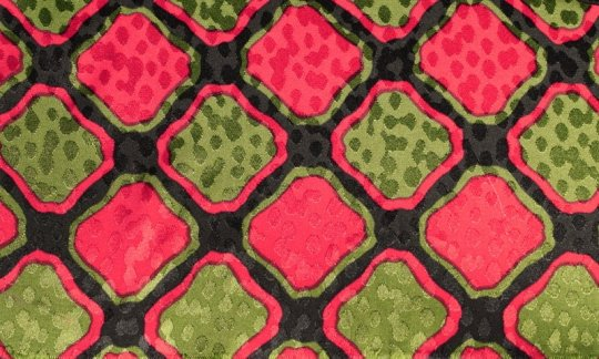 cravatta rosso, verde, nero - fantasia, disegno 200086