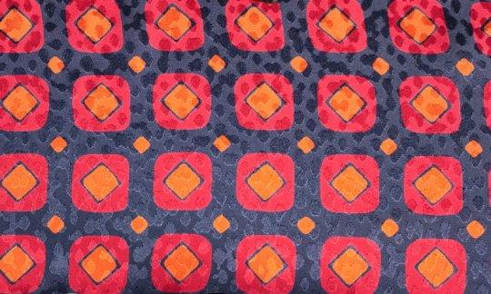 cravatta rosso, azzurro, blu marino, arancione - quadretti, disegno 200087