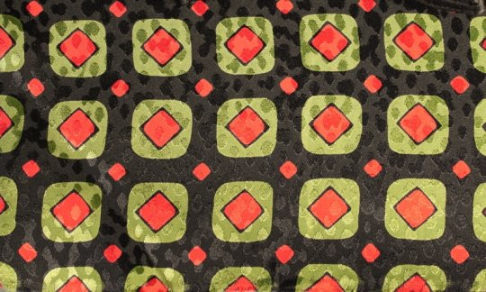 cravatta sciarpa rosso, verde, nero - quadretti, disegno 200090