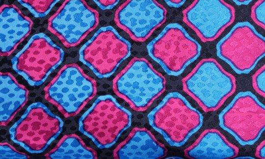 scialle pura seta rosso, azzurro, nero - quadretti, disegno 200092