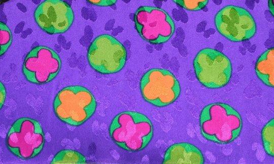 plastron giallo, verde, viola, ametista - fiori, disegno 200099