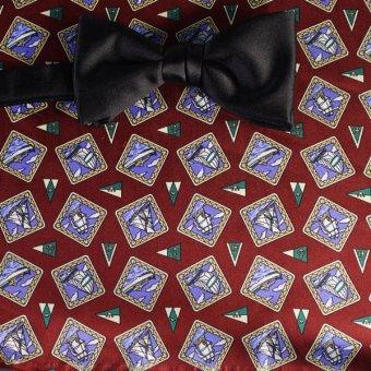 farfalla-papillon azzurro, rosso vino - motivi, disegno 200107