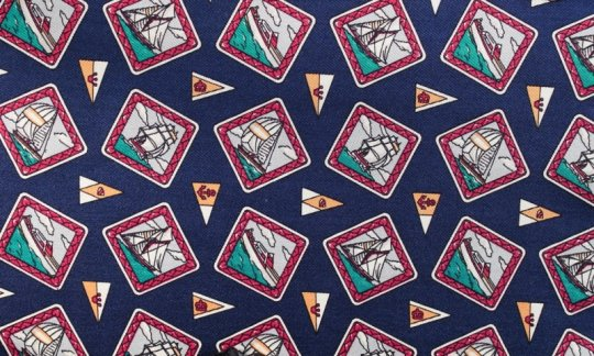 cravatta sciarpa Navy, rosso - motivi, disegno 200109