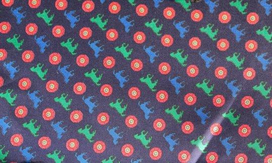 cravatta sciarpa rosso, verde, azzurro, blu marino - motivi, disegno 200110