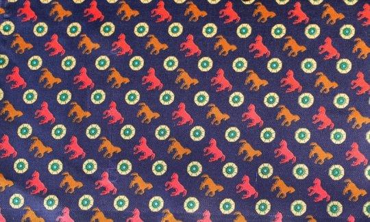 fazzoletto da taschino rosso, blu marino, marrone, panna - motivi, disegno 200114