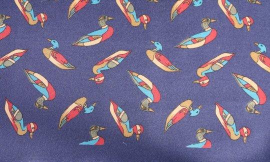 scialle pura seta blu marino - motivi, disegno 200121