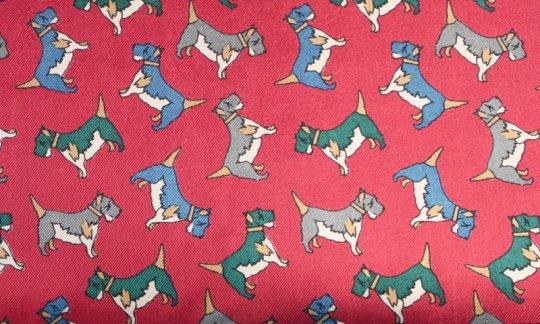 scialle pura seta rosso, rosso vino - motivi, disegno 200123