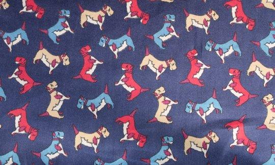 scialle pura seta blu marino - motivi, disegno 200124