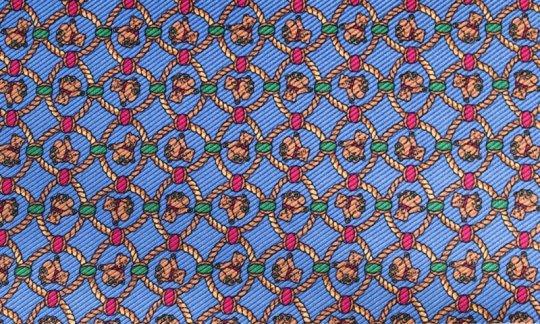 cravatta sciarpa giallo, azzurro - fantasia, disegno 200134