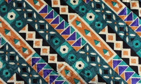 cravatta sciarpa verde, azzurro, marrone, panna - fantasia, disegno 200136