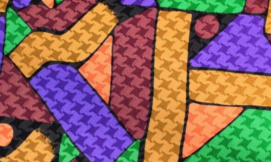 scialle pura seta giallo, verde, oro, marrone, ametista - fantasia, disegno 200137