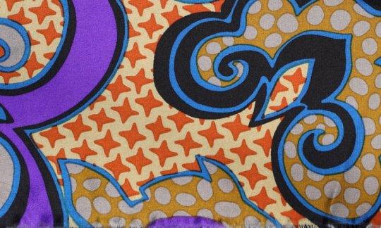 scialle pura seta argento, oro, azzurro, ametista - fantasia, disegno 200145