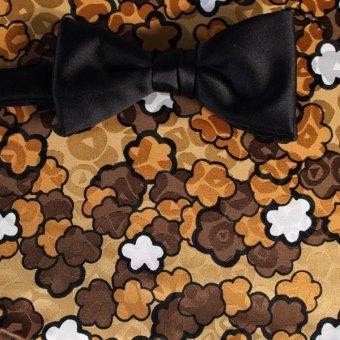 farfalla-papillon oro, bianco, marrone, arancione - fiori, disegno 200149