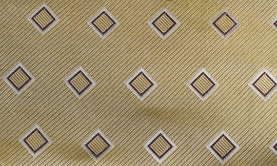 cravatta giallo - quadretti, disegno 200157