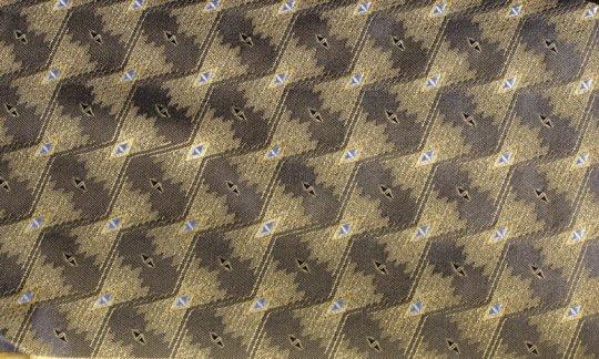 scialle pura seta giallo, nero - fantasia, disegno 200159