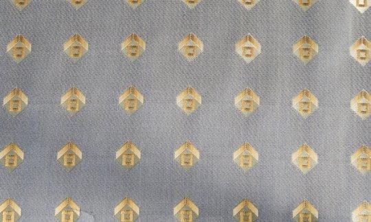 plastron oro - quadretti, disegno 200166