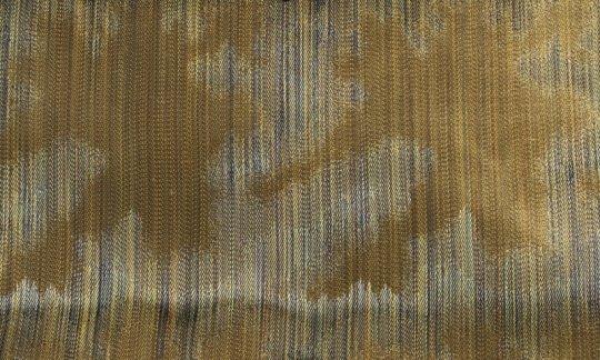 cravatta verde, oro - fantasia, disegno 200167