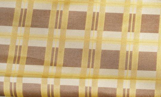 fascia da smoking giallo, marrone, panna - quadretti, disegno 200174