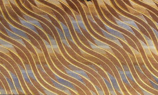 cravatta oro, marrone - fantasia, disegno 200177